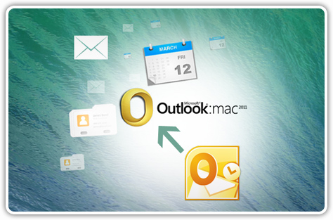 Quickly Import or Export MS Outlook to Outlook for Mac 2011